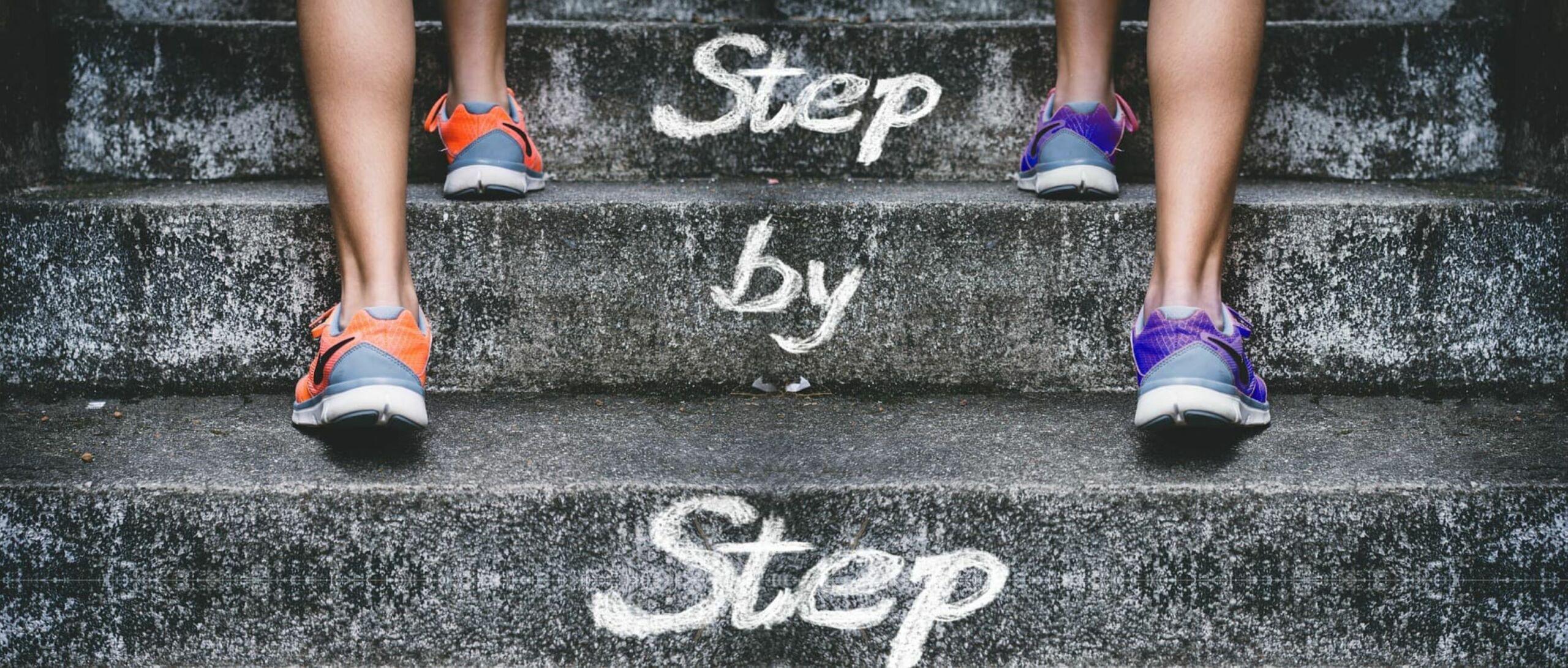 Schritte Stufen Mut Coaching